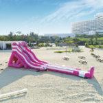 砂浜ウォータスライダー